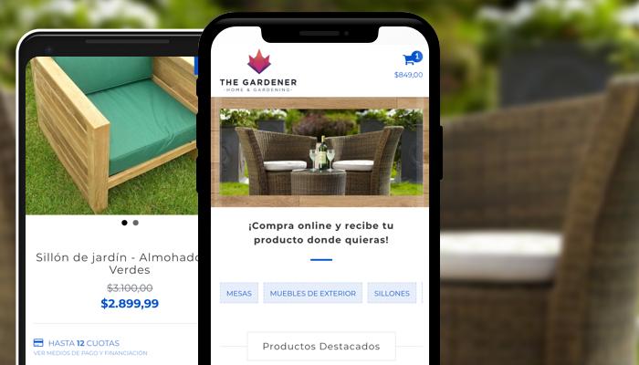Plantilla Gardener: usuarios contentos, carrito lleno